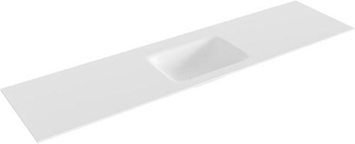 GRUNNE Talc solid surface inbouw wastafel 161cm midden