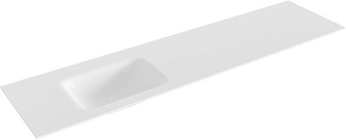 GRUNNE Talc solid surface inbouw wastafel 160cm Positie wasbak links
