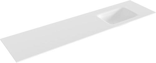 GRUNNE Talc solid surface inbouw wastafel 160cm rechts