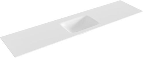 GRUNNE Talc solid surface inbouw wastafel 171cm midden
