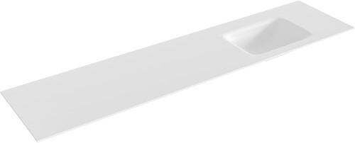 GRUNNE Talc solid surface inbouw wastafel 170cm rechts