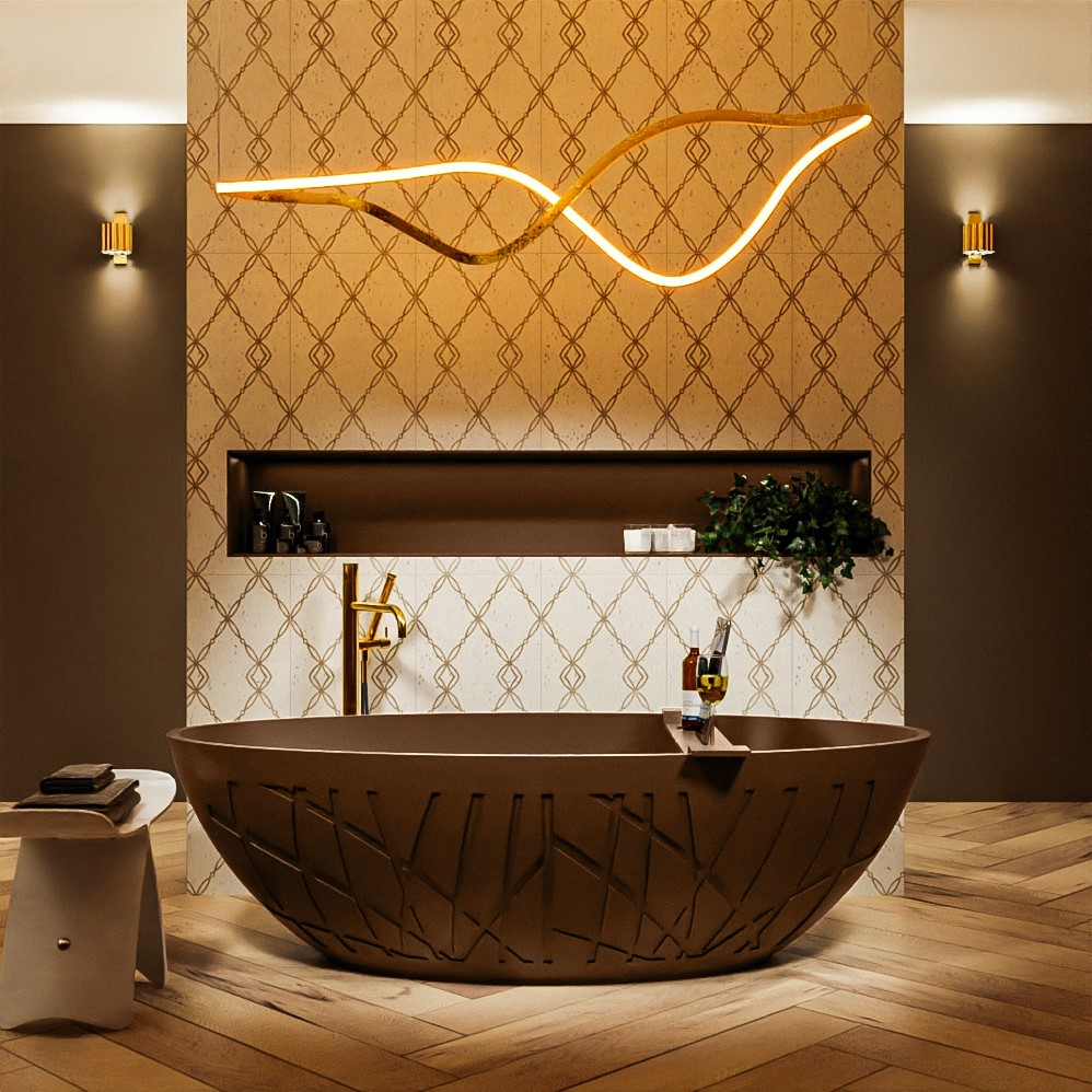vrijstaand bad solid surface holm rust