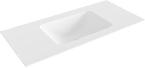 LEAF Talc solid surface inbouw wastafel 101cm Positie wasbak midden