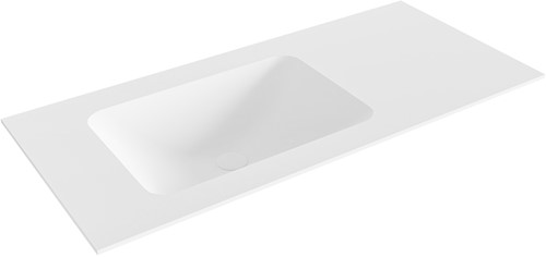 LEAF Talc solid surface inbouw wastafel 101cm Positie wasbak links