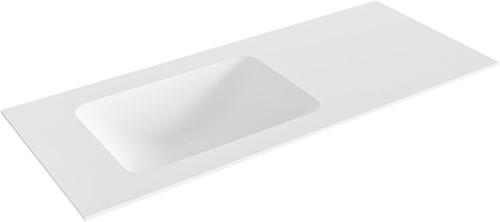 LEAF Talc solid surface inbouw wastafel 111cm Positie wasbak links