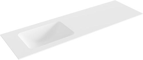 LEAF Talc solid surface inbouw wastafel 151cm Positie wasbak links