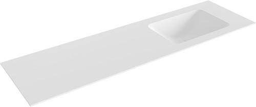 LEAF Talc solid surface inbouw wastafel 161cm Positie wasbak rechts