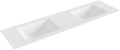 LEAF Talc solid surface inbouw wastafel 171cm dubbel