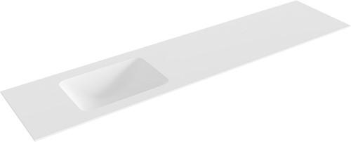 LEAF Talc solid surface inbouw wastafel 201cm links