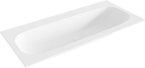 STOR medium Talc solid surface inbouw wastafel 100cm midden