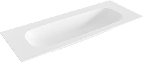 STOR medium Talc solid surface inbouw wastafel 121cm midden