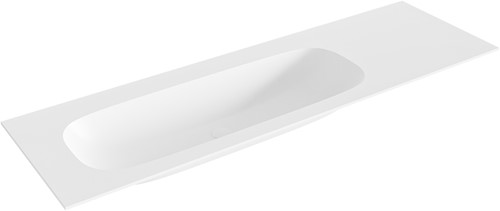 STOR medium Talc solid surface inbouw wastafel 151cm links