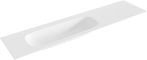STOR medium Talc solid surface inbouw wastafel 190cm links