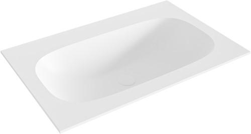 STOR small Talc solid surface inbouw wastafel 70cm midden