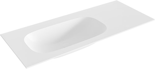 STOR small Talc solid surface inbouw wastafel 110cm links