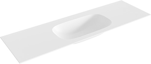STOR small Talc solid surface inbouw wastafel 150cm midden