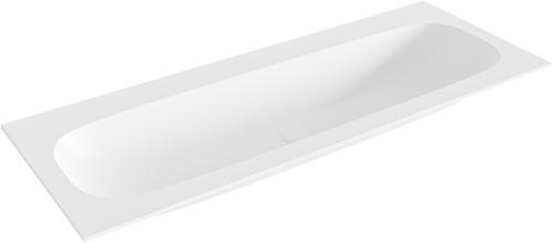 STOR large Talc solid surface inbouw wastafel 120cm midden