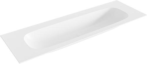 STOR large Talc solid surface inbouw wastafel 140cm midden