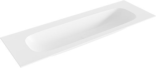 STOR large Talc solid surface inbouw wastafel 141cm midden