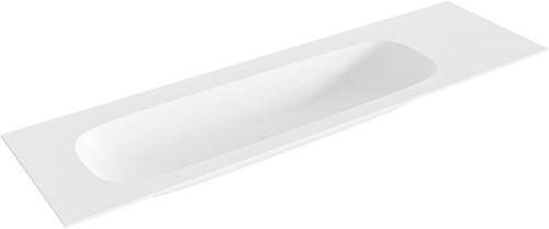 STOR large Talc solid surface inbouw wastafel 161cm links