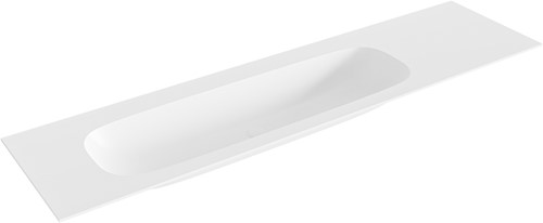 STOR large Talc solid surface inbouw wastafel 180cm links