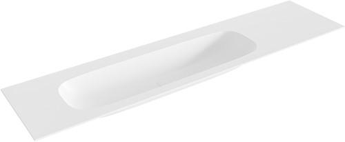 STOR large Talc solid surface inbouw wastafel 190cm links