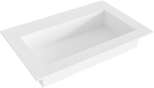 ZINK Talc solid surface inbouw wastafel 71cm Positie wasbak midden