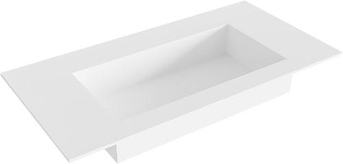 ZINK Talc solid surface inbouw wastafel 90cm Positie wasbak midden