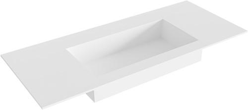ZINK Talc solid surface inbouw wastafel 110cm Positie wasbak midden