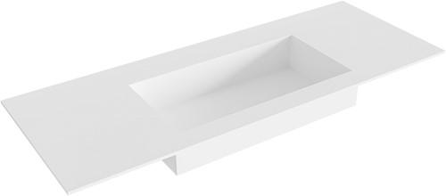 ZINK Talc solid surface inbouw wastafel 120cm Positie wasbak midden
