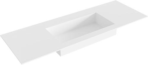 ZINK Talc solid surface inbouw wastafel 131cm Positie wasbak midden