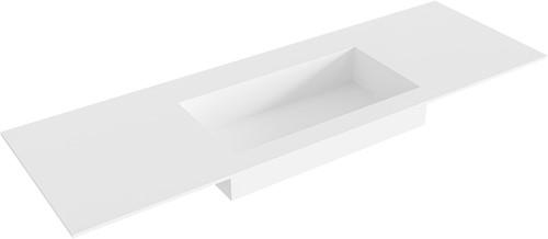 ZINK Talc solid surface inbouw wastafel 140cm Positie wasbak midden