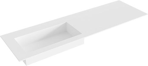 ZINK Talc solid surface inbouw wastafel 150cm Positie wasbak links