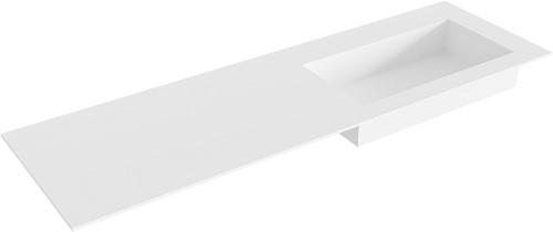 ZINK Talc solid surface inbouw wastafel 150cm Positie wasbak rechts