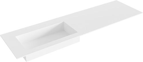 ZINK Talc solid surface inbouw wastafel 160cm Positie wasbak links