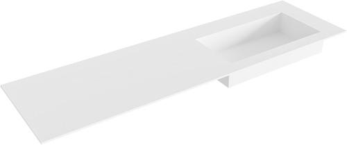 ZINK Talc solid surface inbouw wastafel 161cm Positie wasbak rechts