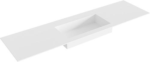 ZINK Talc solid surface inbouw wastafel 170cm Positie wasbak midden