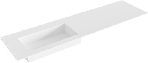 ZINK Talc solid surface inbouw wastafel 171cm Positie wasbak links