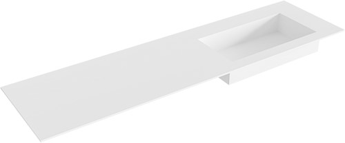 ZINK Talc solid surface inbouw wastafel 171cm Positie wasbak rechts
