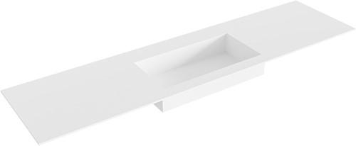 ZINK Talc solid surface inbouw wastafel 180cm Positie wasbak midden