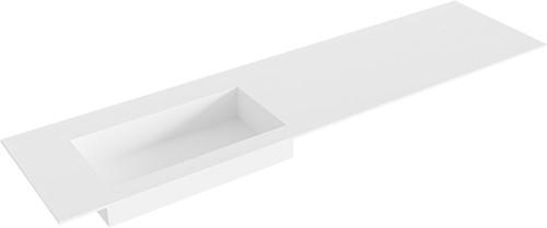 ZINK Talc solid surface inbouw wastafel 181cm Positie wasbak links
