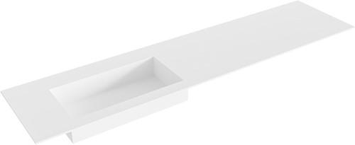 ZINK Talc solid surface inbouw wastafel 190cm Positie wasbak links