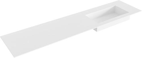 ZINK Talc solid surface inbouw wastafel 190cm Positie wasbak rechts