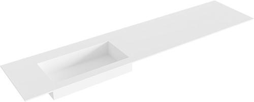 ZINK Talc solid surface inbouw wastafel 200cm Positie wasbak links
