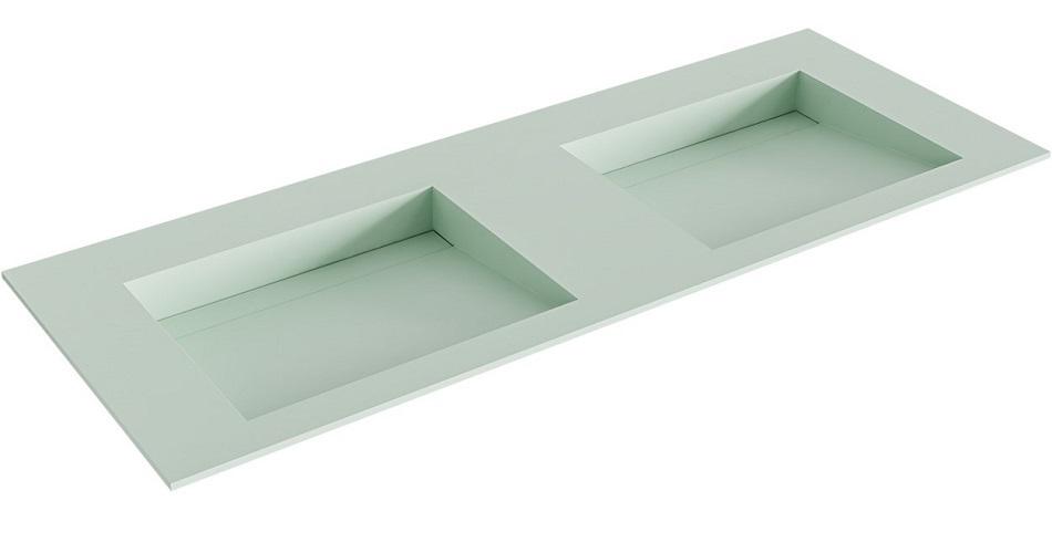 inbouw wastafel AVON DUBBEL positie wasbak links, recht of dubbel passend bij de badkamermeubels van MONDIAZ