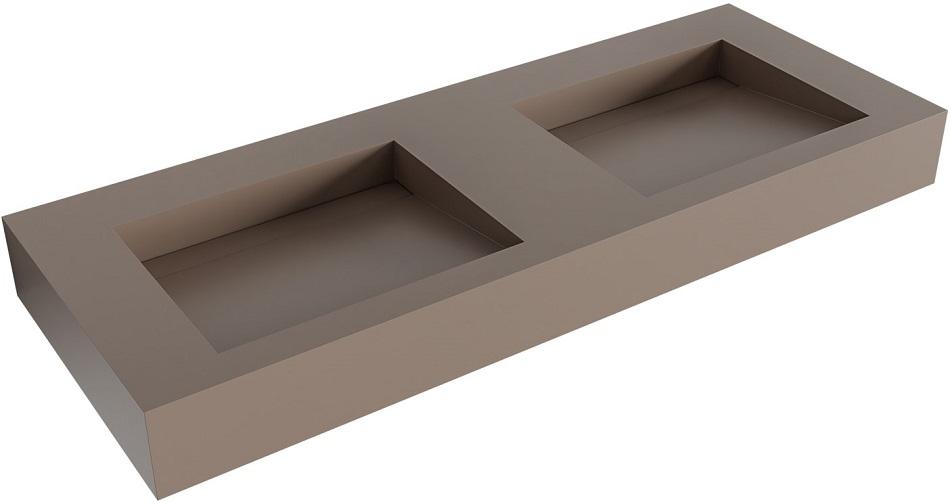 vrijhangende wastafel AVON positie wasbak links, rechts of dubbel passend bij de badkamermeubels van MONDIAZ