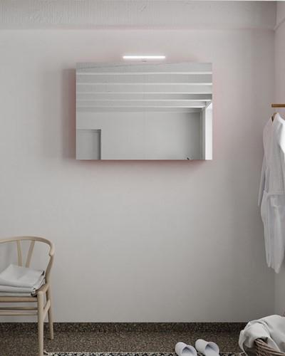 CUBB spiegelkast 100x70x18cm kleur fire met 2 deuren