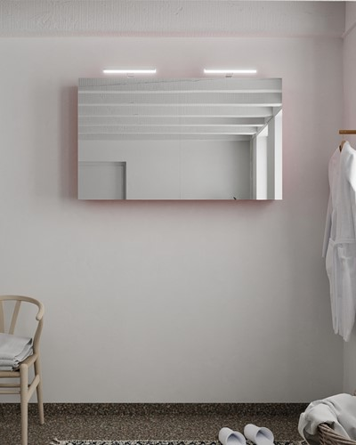 CUBB spiegelkast 120x70x16cm kleur fire met 2 deuren