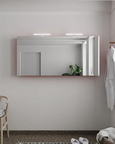 CUBB spiegelkast 150x70x16cm kleur fire met 3 deuren
