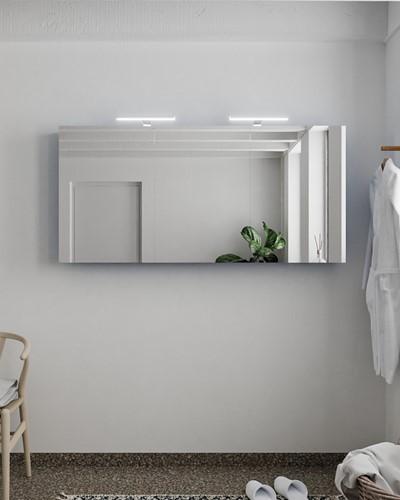 CUBB spiegelkast 150x70x16cm kleur jeans met 3 deuren